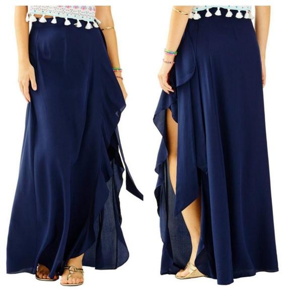 d758ee9a4 Lilly Pulitzer Skirts | Berdine Ruffled Silk Skirt | Poshmark